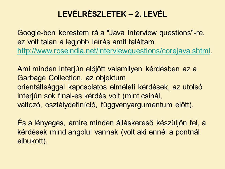 LEVÉLRÉSZLETEK – 3.LEVÉL Volt egy internetes játék a foci világbajnokság ideje alatt.
