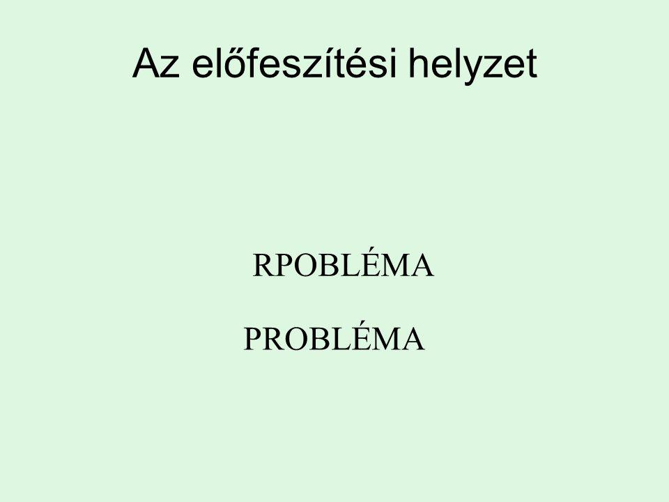 Az előfeszítési helyzet RPOBLÉMA PROBLÉMA