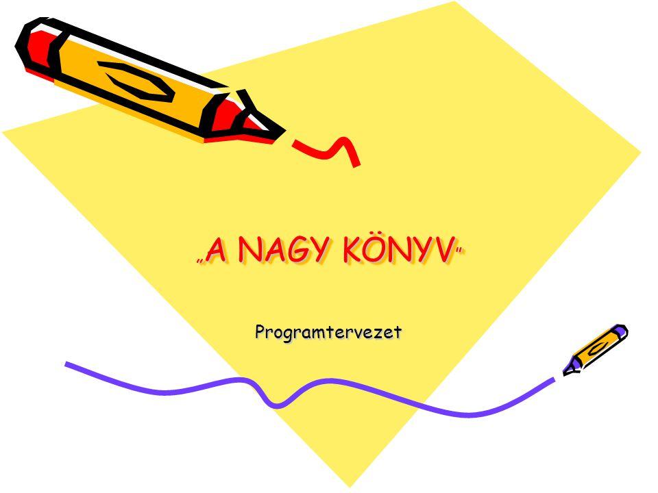 """"""" A NAGY KÖNYV Programtervezet"""