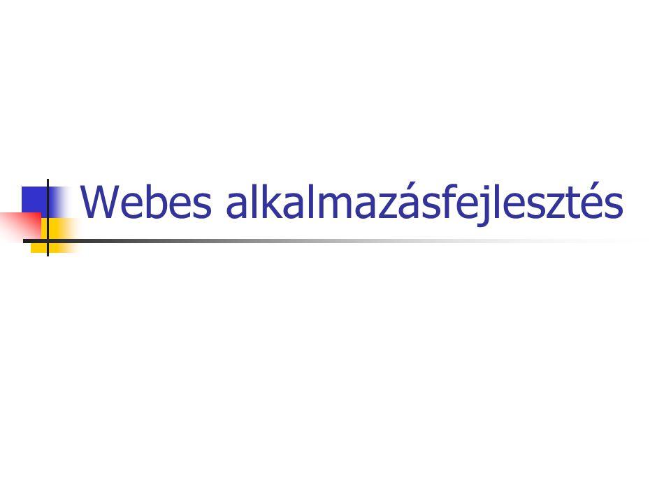 Webes alkalmazásfejlesztés