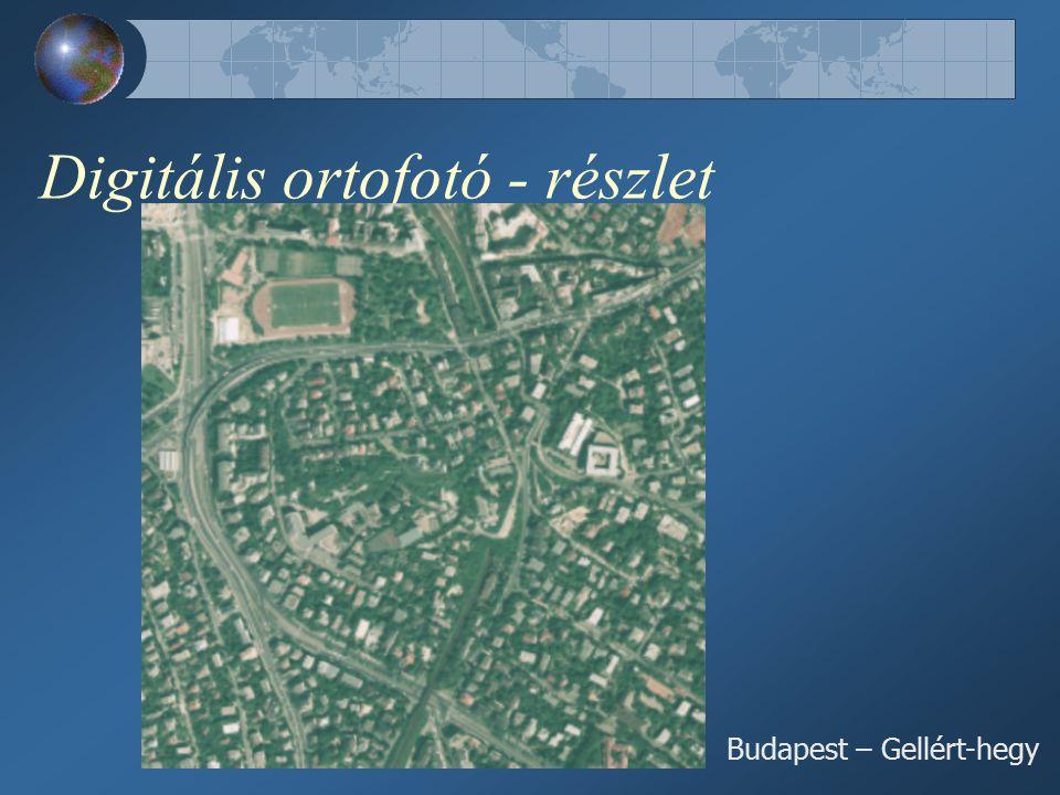 Digitális ortofotó - részlet Budapest – Gellért-hegy