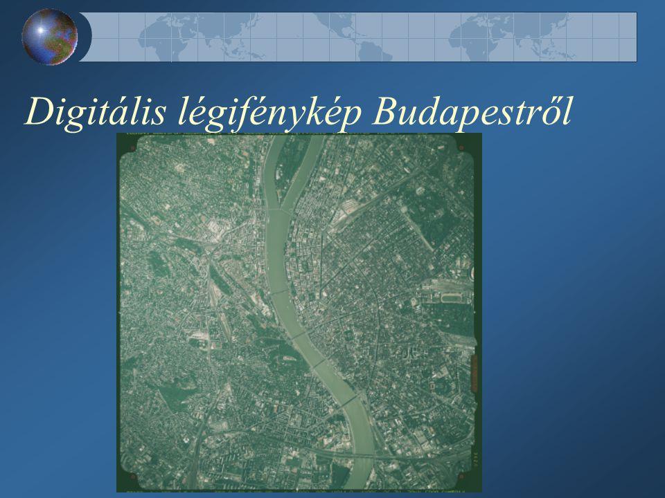 Digitális légifénykép Budapestről