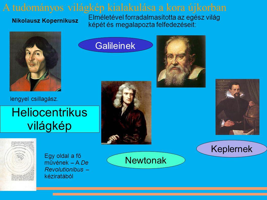 A tudományos világkép kialakulása a kora újkorban lengyel csillagász. Nikolausz Kopernikusz Egy oldal a fő művének – A De Revolutionibus – kéziratából