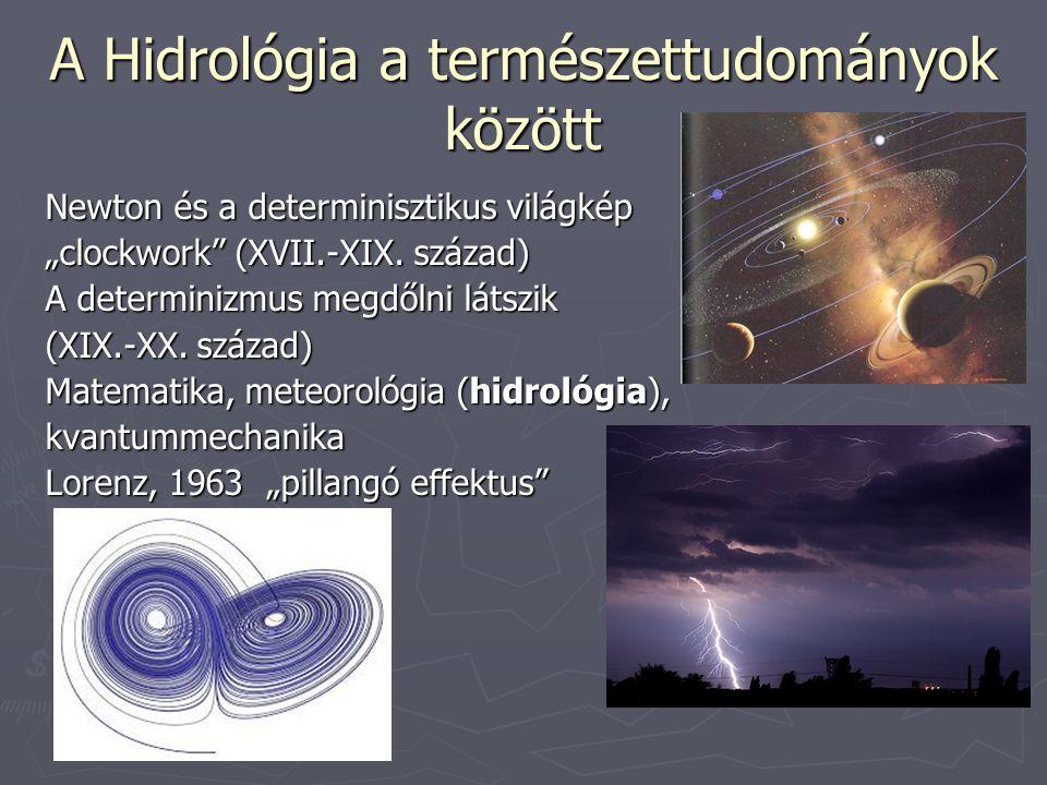 """A Hidrológia a természettudományok között Newton és a determinisztikus világkép """"clockwork"""" (XVII.-XIX. század) A determinizmus megdőlni látszik (XIX."""