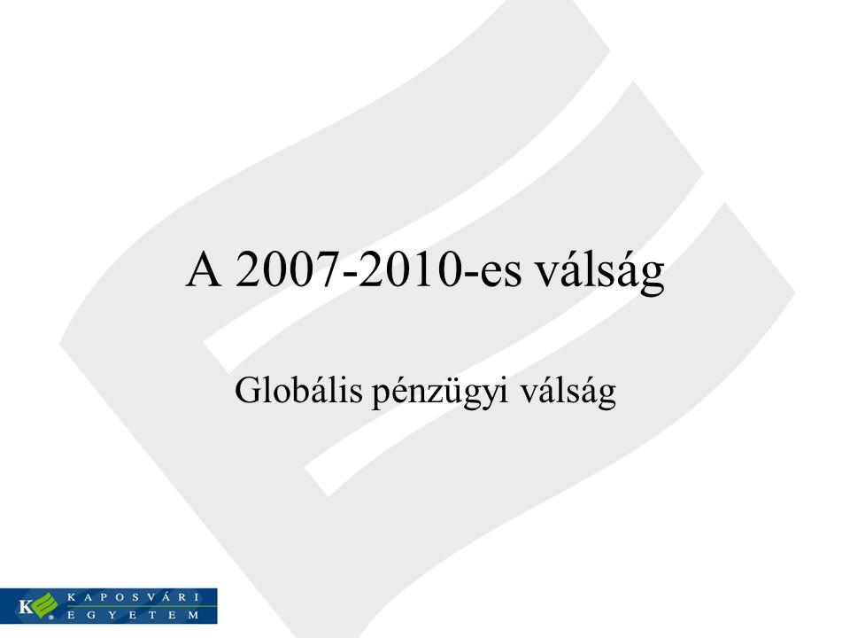 A 2007-2010-es válság Globális pénzügyi válság