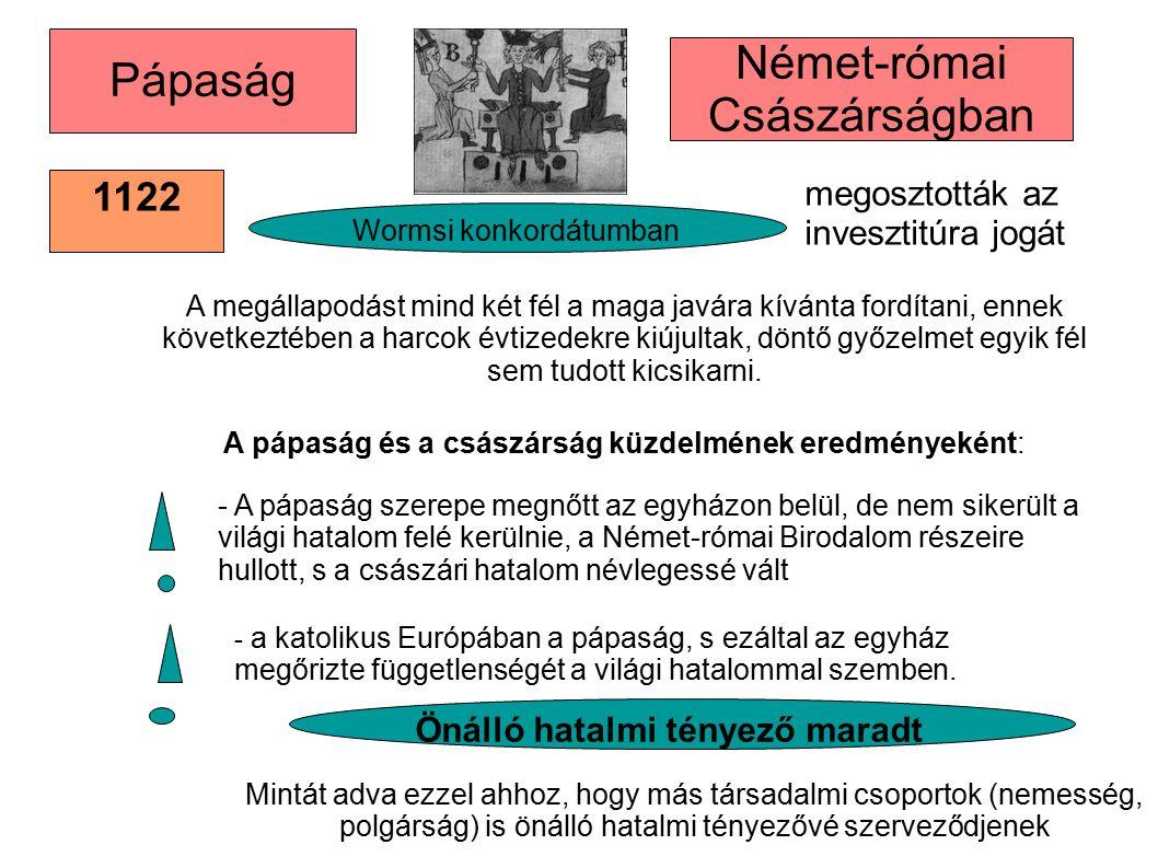 1122 megosztották az invesztitúra jogát 1122 A megállapodást mind két fél a maga javára kívánta fordítani, ennek következtében a harcok évtizedekre ki