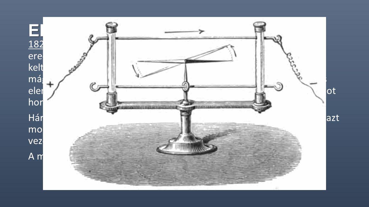 Elektromágnesesség 1820. április 21-én, olyan jelenségre lett figyelmes, amelynek eredménye megdöbbentő volt Ørsted számára. Ahogy az áram által kelte