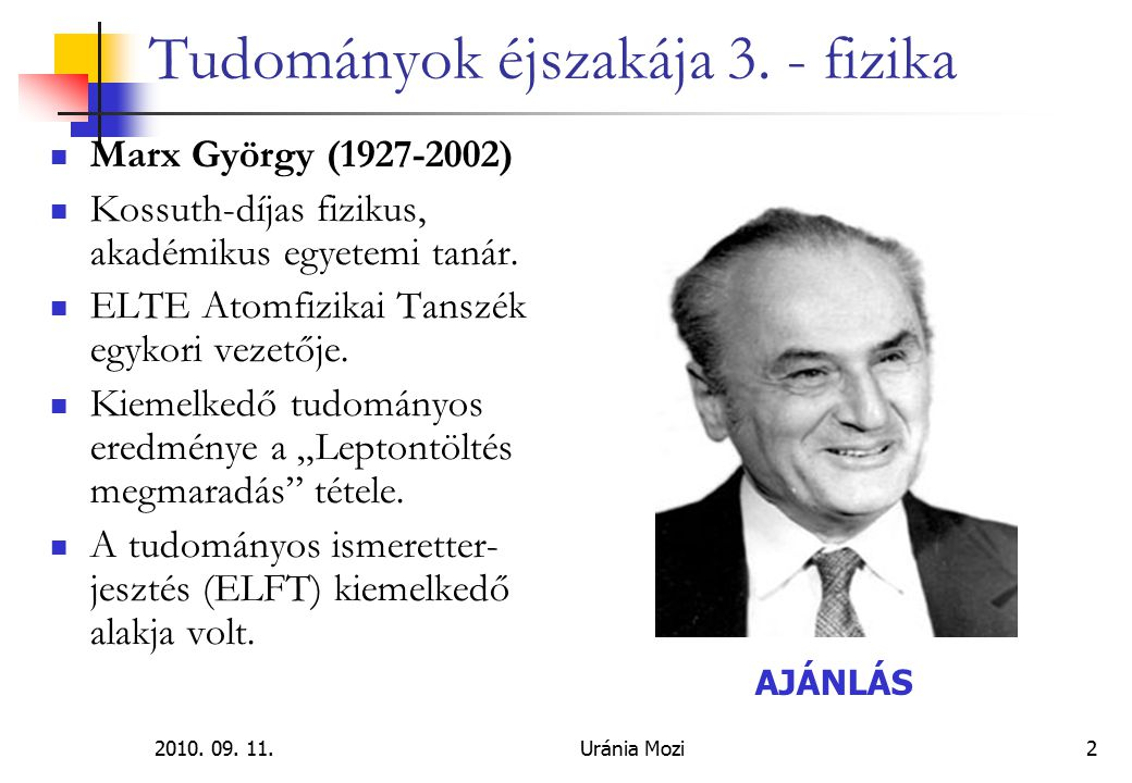 2010.09. 11.Uránia Mozi3 Tudományok éjszakája 3.