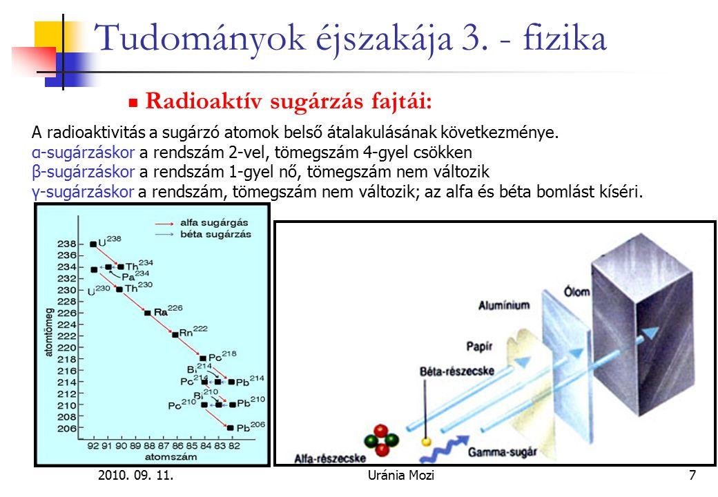 2010. 09. 11.Uránia Mozi18 Tudományok éjszakája 3. - fizika A biciklizés fizikája:
