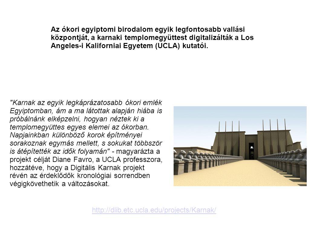 Az ókori egyiptomi birodalom egyik legfontosabb vallási központját, a karnaki templomegyüttest digitalizálták a Los Angeles-i Kaliforniai Egyetem (UCL