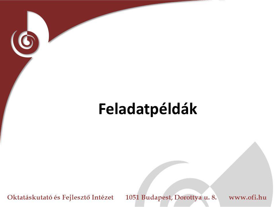 Oktatáskutató és Fejlesztő Intézet 1051 Budapest, Dorottya u. 8. www.ofi.hu Feladatpéldák