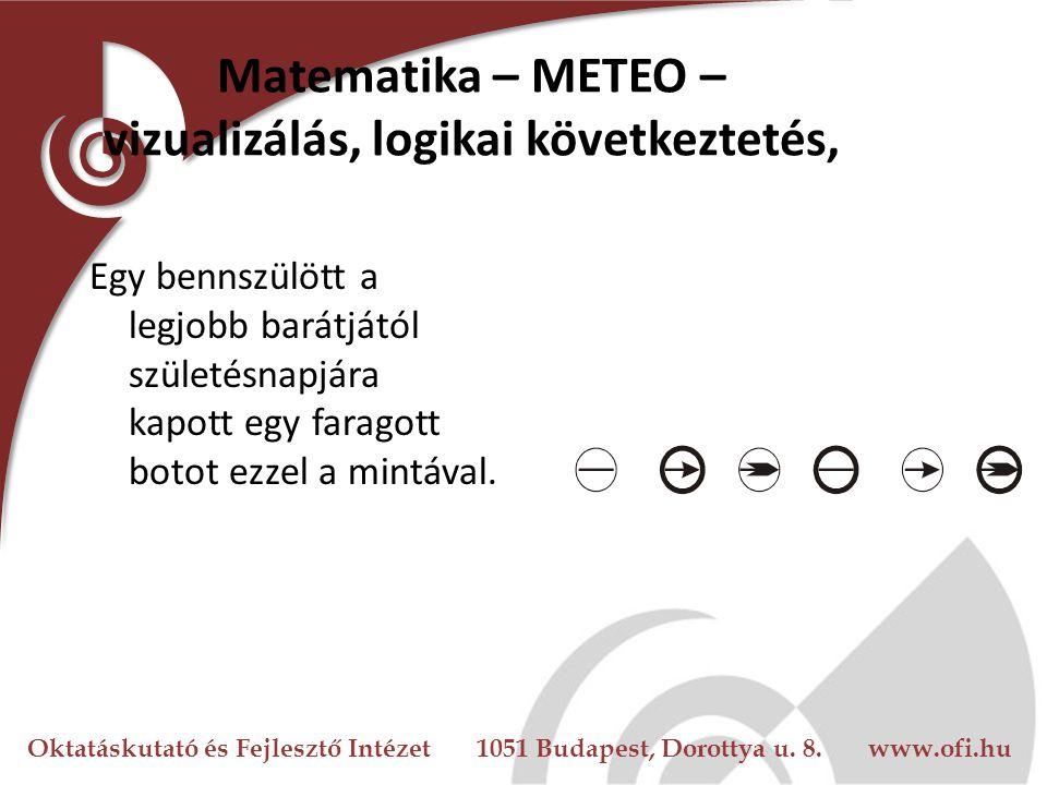 Oktatáskutató és Fejlesztő Intézet 1051 Budapest, Dorottya u. 8. www.ofi.hu Matematika – METEO – vizualizálás, logikai következtetés, Egy bennszülött