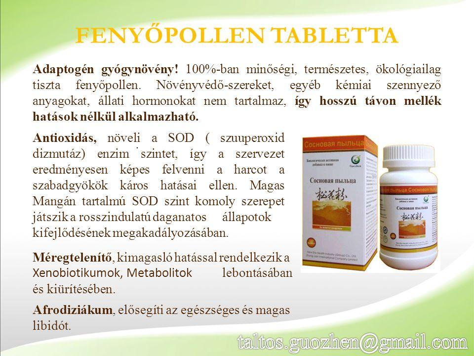 FENYŐPOLLEN TABLETTA Adaptogén gyógynövény! 100%-ban minőségi, természetes, ökológiailag tiszta fenyőpollen. Növényvédő-szereket, egyéb kémiai szennye