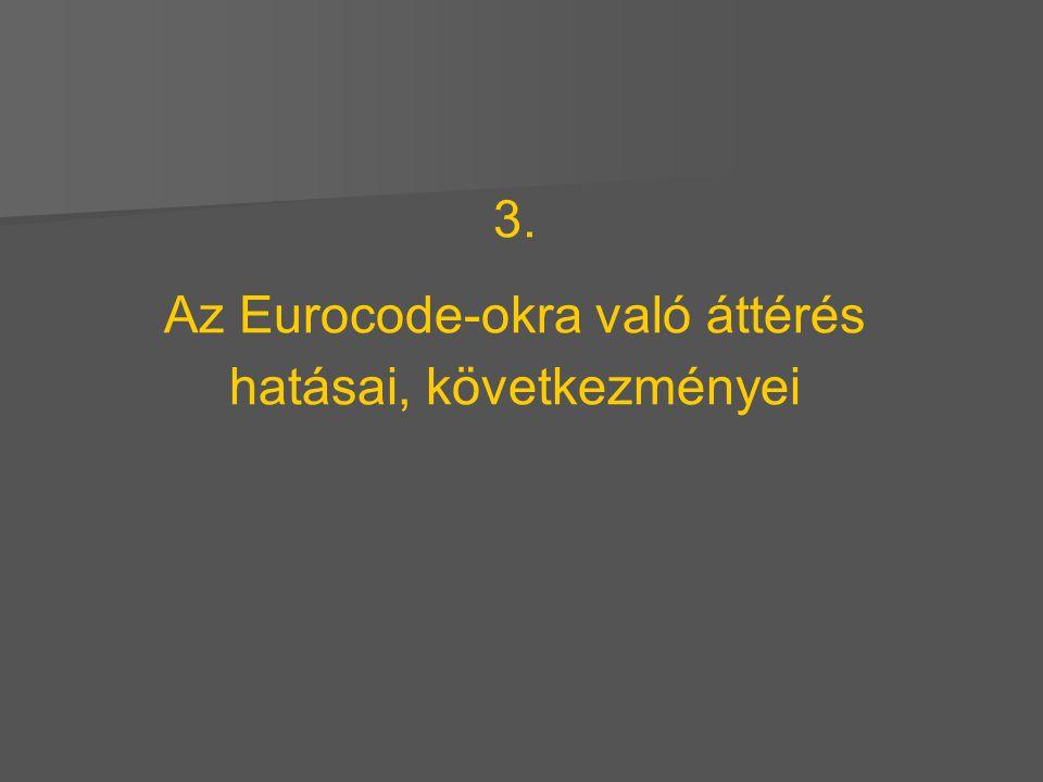 3. Az Eurocode-okra való áttérés hatásai, következményei