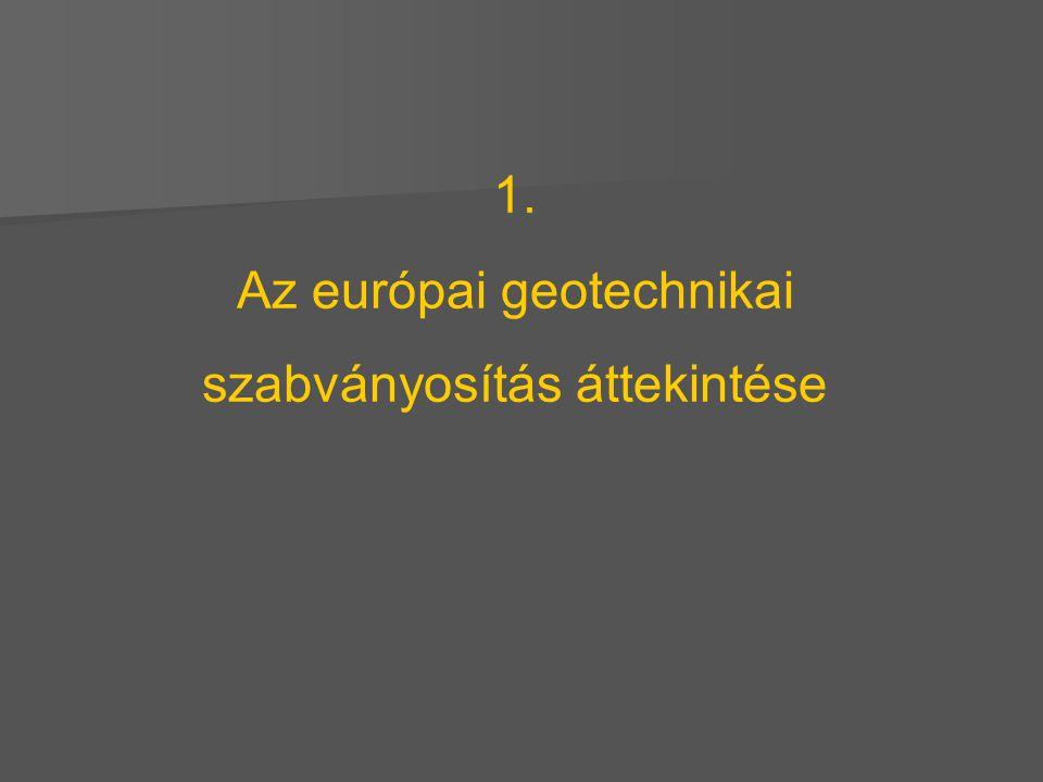 1. Az európai geotechnikai szabványosítás áttekintése