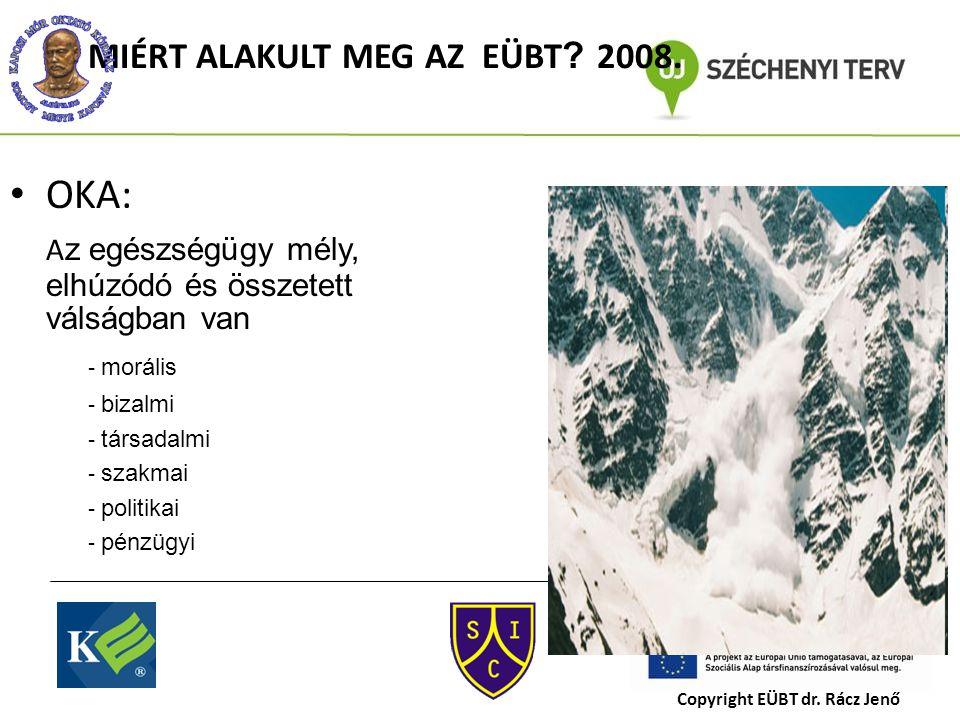MIÉRT ALAKULT MEG AZ EÜBT . 2008.