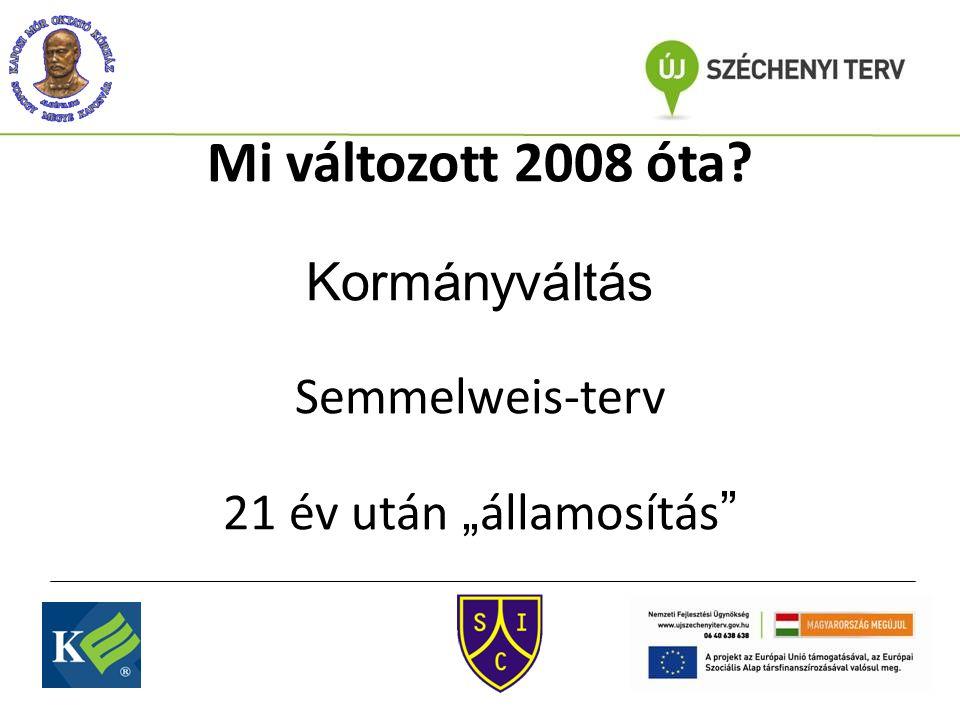 """Mi változott 2008 óta Kormányváltás Semmelweis-terv 21 év után """" államosítás"""