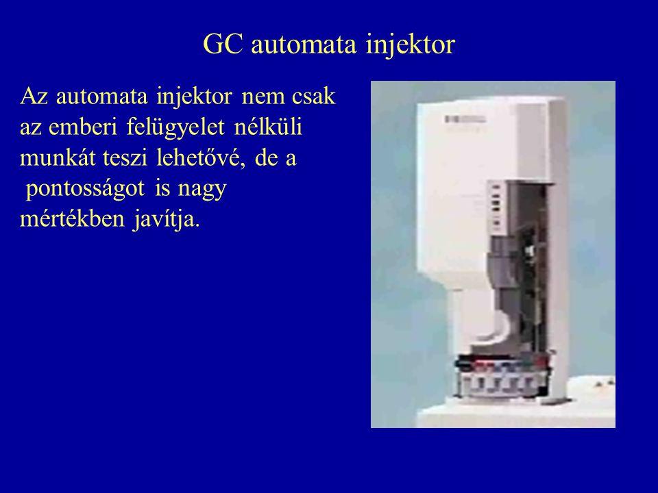 GC automata injektor Az automata injektor nem csak az emberi felügyelet nélküli munkát teszi lehetővé, de a pontosságot is nagy mértékben javítja.