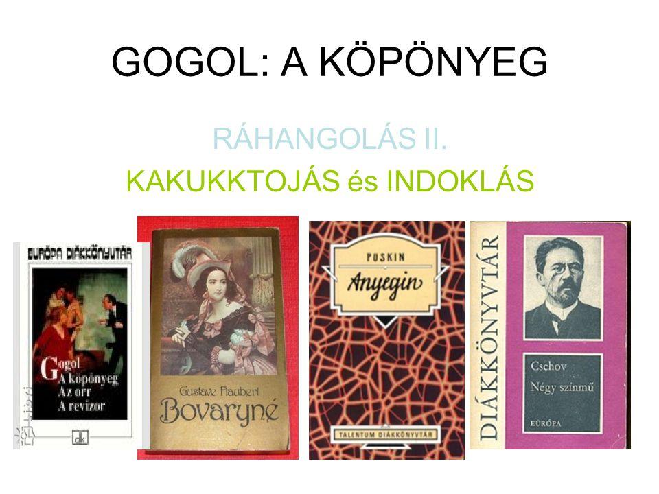GOGOL: A KÖPÖNYEG RÁHANGOLÁS II. KAKUKKTOJÁS és INDOKLÁS