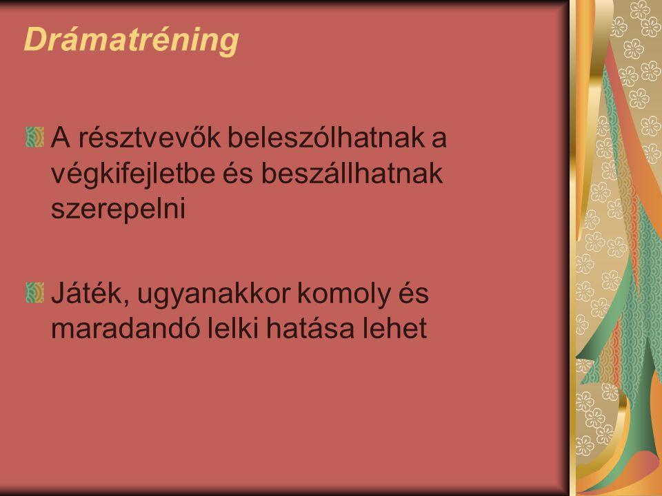 Készítette: Barzsó Rita Forrás: - Paraszt Imre, HR Portal - www.adsidera.hu - Gabnai Katalin: Drámajátékok c.