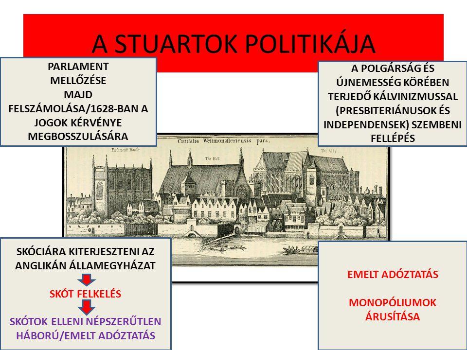 A STUARTOK POLITIKÁJA PARLAMENT MELLŐZÉSE MAJD FELSZÁMOLÁSA/1628-BAN A JOGOK KÉRVÉNYE MEGBOSSZULÁSÁRA A POLGÁRSÁG ÉS ÚJNEMESSÉG KÖRÉBEN TERJEDŐ KÁLVIN