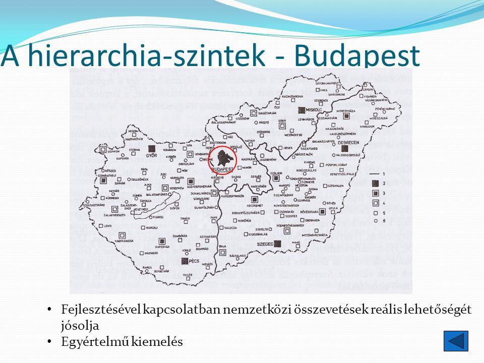A hierarchia-szintek - Budapest Fejlesztésével kapcsolatban nemzetközi összevetések reális lehetőségét jósolja Egyértelmű kiemelés