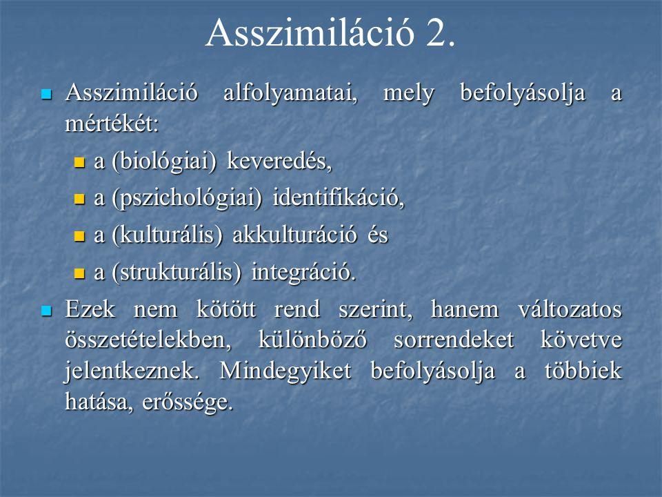 Asszimiláció 2. Asszimiláció alfolyamatai, mely befolyásolja a mértékét: Asszimiláció alfolyamatai, mely befolyásolja a mértékét: a (biológiai) kevere