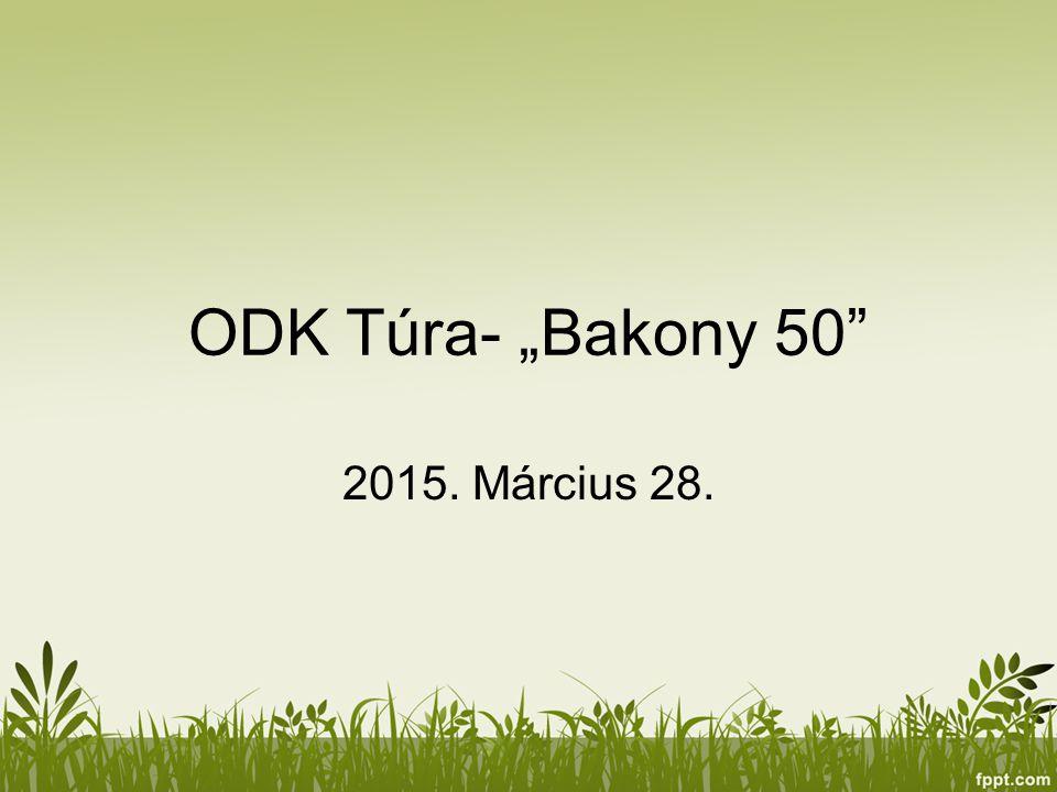 "ODK Túra- ""Bakony 50"" 2015. Március 28."