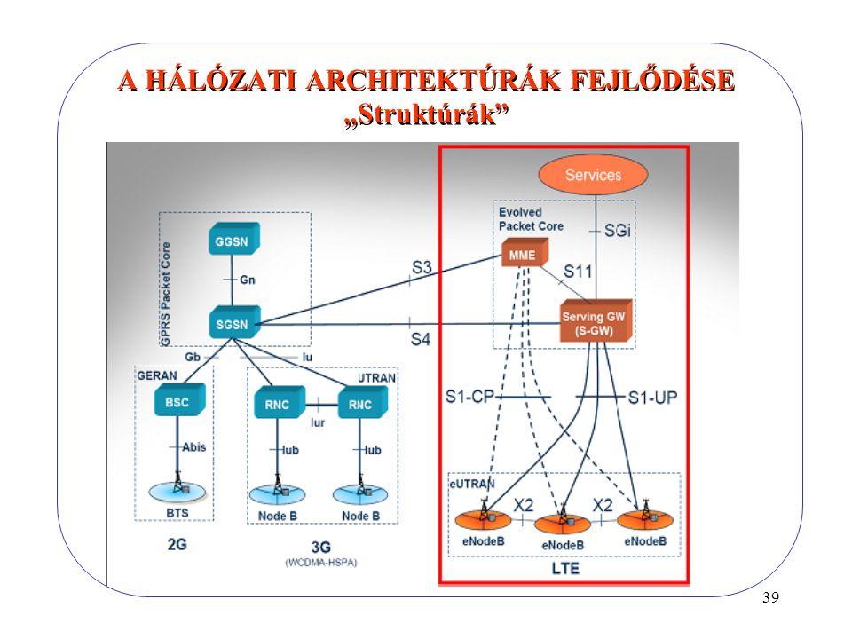 """39 A HÁLÓZATI ARCHITEKTÚRÁK FEJLŐDÉSE """"Struktúrák"""