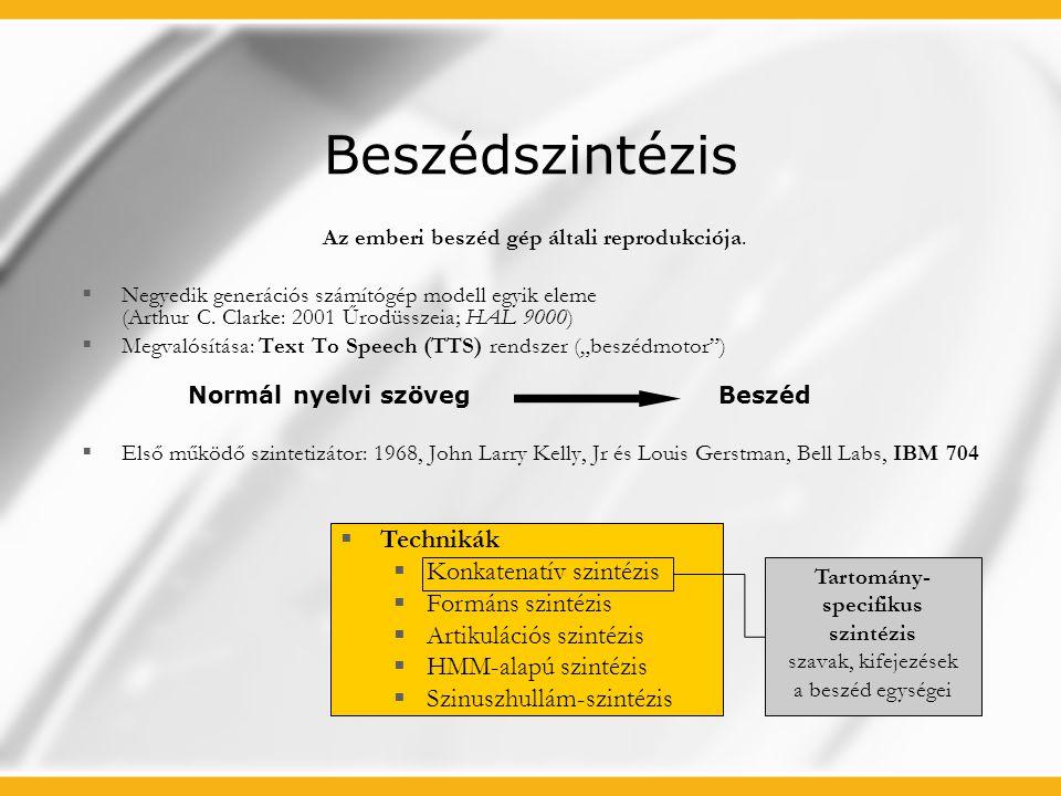 """Igény Mai (tartomány-specifikus) utastájékoztató rendszerek igényei  Szinkronszínész  Szinkronstúdió  Vágás-utómunka Hátrányok  Hangsúly-beli ugrások  Nehézkes bővíthetőség  Audio-fájlok nagy tárhelyigénye Az audio Passenger Information System (""""aPIS ) rendszer igényei Beszédmotor: Advanced Text-To-Speech (ATTS) Előnyök  Nincs színész/stúdió költség  Nincsenek hangsúly-hibák  Gyors és olcsó bővíthetőség  Nincs szükség audio-fájlokra (realtime) Napjainkban elterjedt számos autóbusz pályaudvaron, vasútállomáson a hangos utastájékoztatás."""