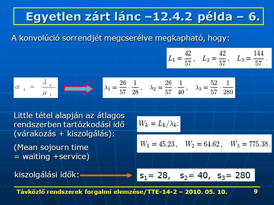Távközlő rendszerek forgalmi elemzése/TTE-14-2 – 2010.