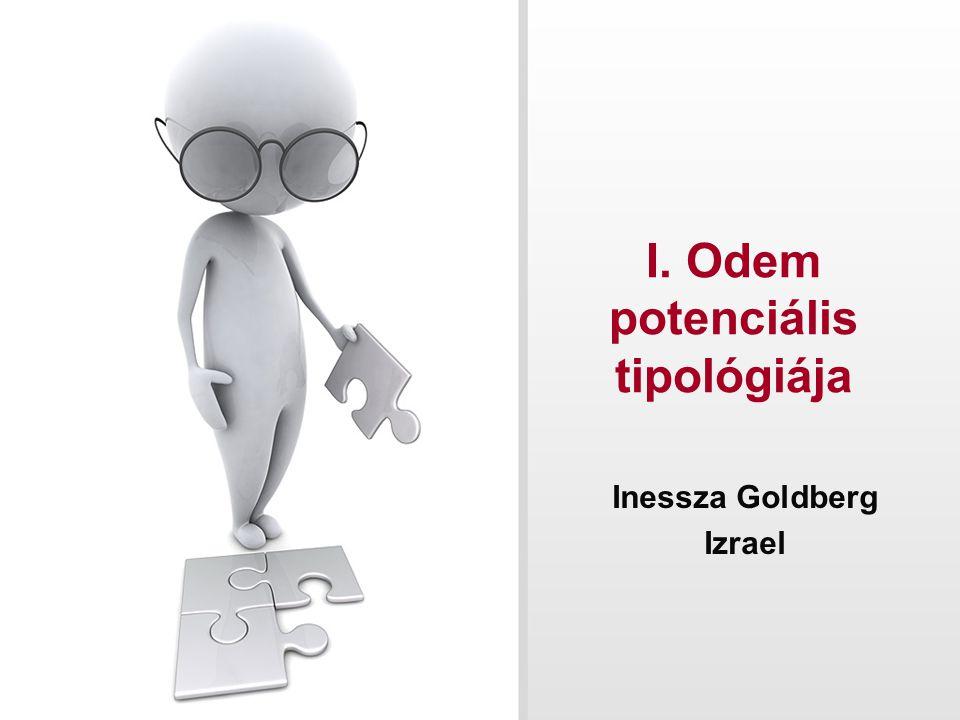 I. Odem potenciális tipológiája Inessza Goldberg Izrael