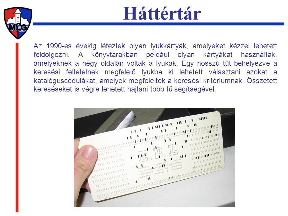Az 1990-es évekig léteztek olyan lyukkártyák, amelyeket kézzel lehetett feldolgozni. A könyvtárakban például olyan kártyákat használtak, amelyeknek a