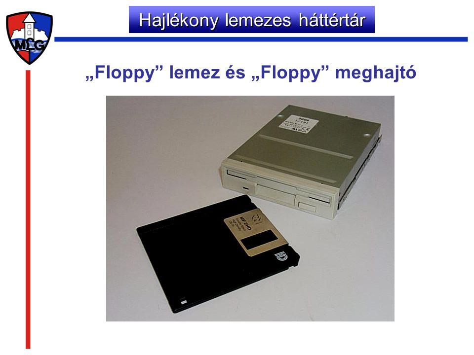 """Hajlékony lemezes háttértár """"Floppy"""" lemez és """"Floppy"""" meghajtó"""