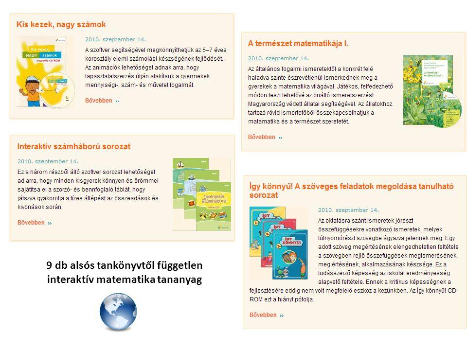 9 db felsős tankönyvtől független interaktív matematika tananyag