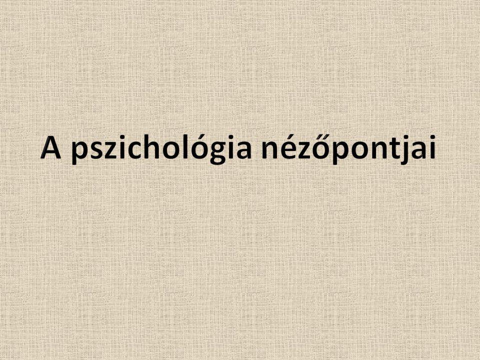 Pszichológia Kognitív megközelítés Pszichoanalitikus megközelítés Fenomenológiai megközelítés Biológiai megközelítés Behaviorista megközelítés