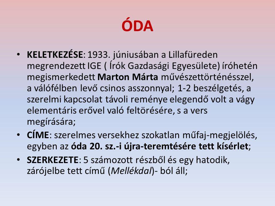 ÓDA KELETKEZÉSE: 1933.