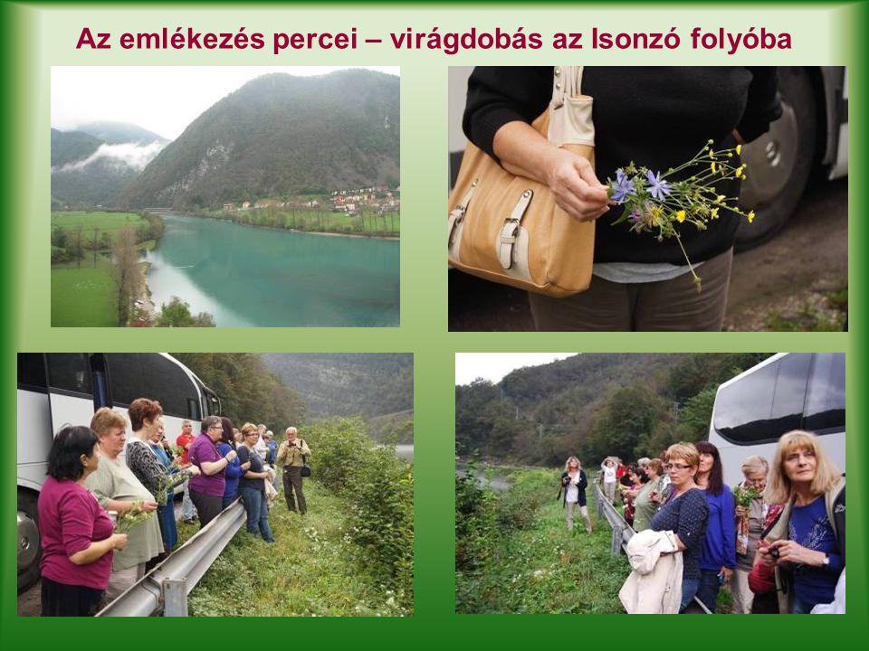Az emlékezés percei – virágdobás az Isonzó folyóba