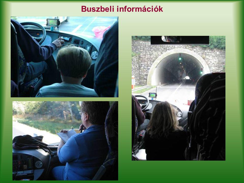 Buszbeli információk