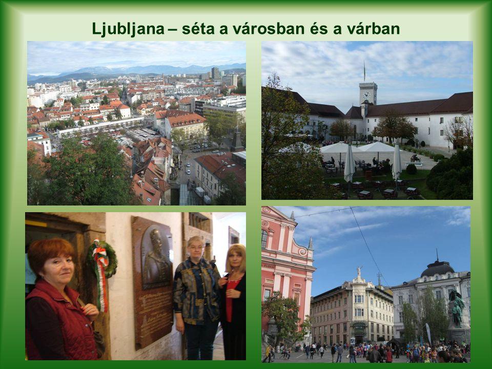 Ljubljana – séta a városban és a várban