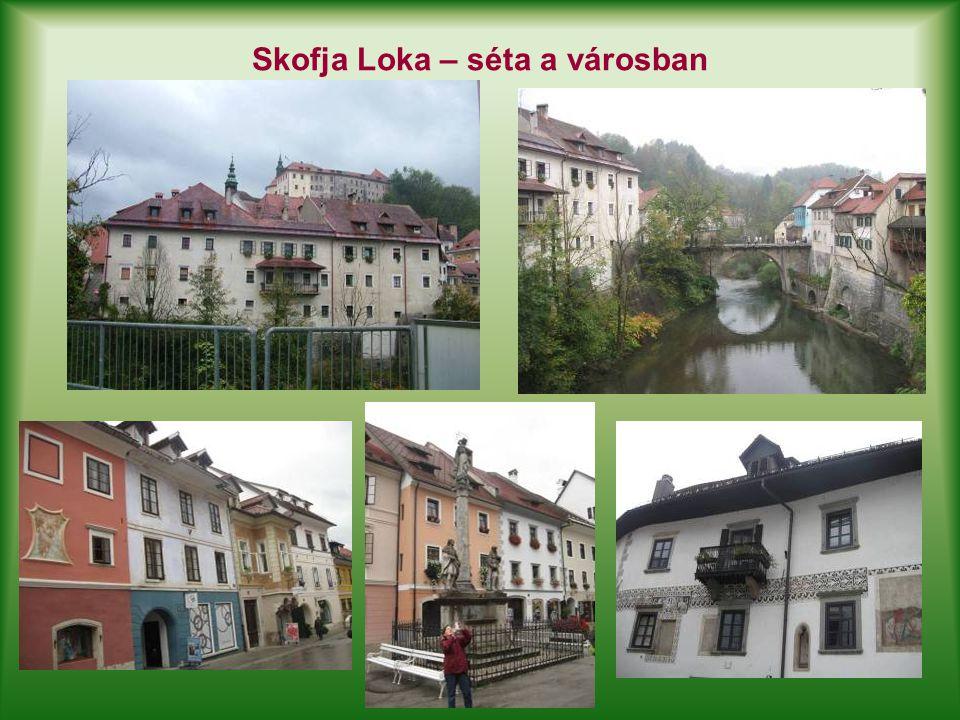 Skofja Loka – séta a városban