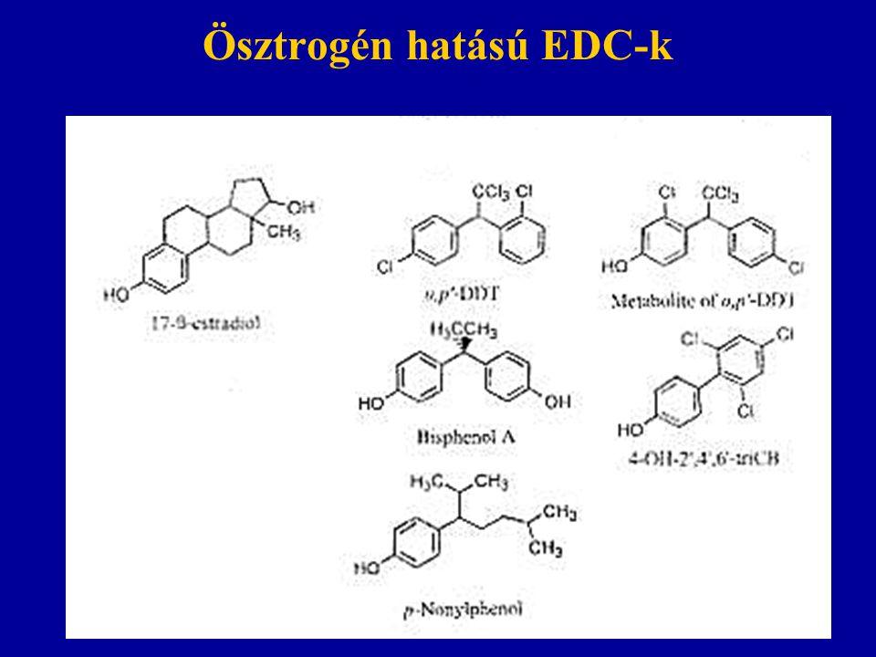 Ösztrogén hatású EDC-k