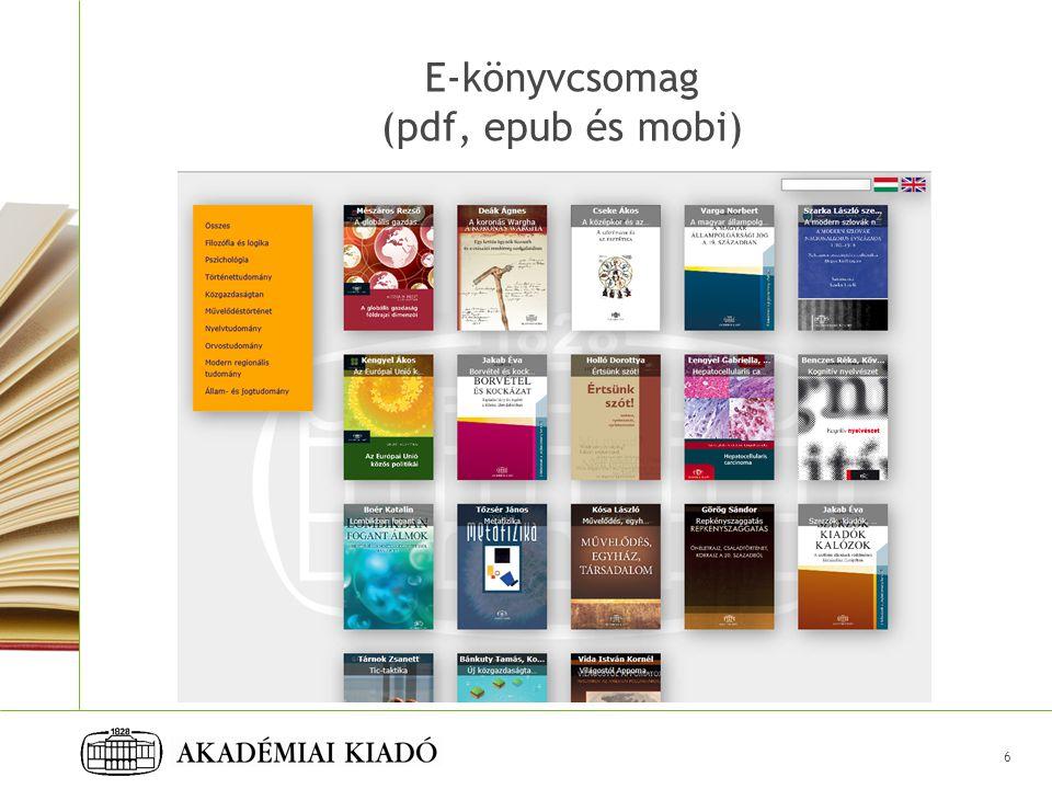 6 E-könyvcsomag (pdf, epub és mobi)