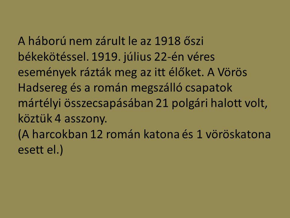 Néhány mártélyi katona:  Albert Lajos(földműves) A Mártélyi Olvasókör jegyzője, 1915 március 15-én vonult be a 4.