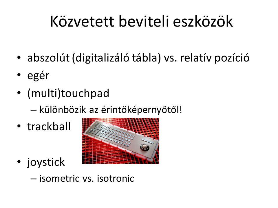 abszolút (digitalizáló tábla) vs.