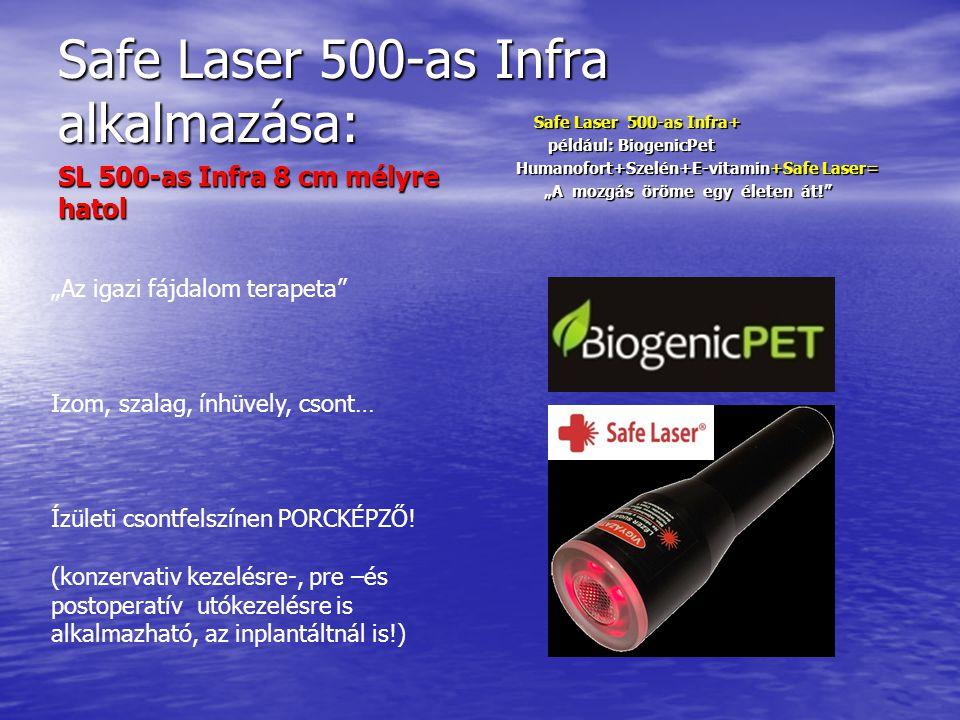 """Safe Laser 500-as Infra alkalmazása: SL 500-as Infra 8 cm mélyre hatol """"Az igazi fájdalom terapeta Izom, szalag, ínhüvely, csont… Ízületi csontfelszínen PORCKÉPZŐ."""