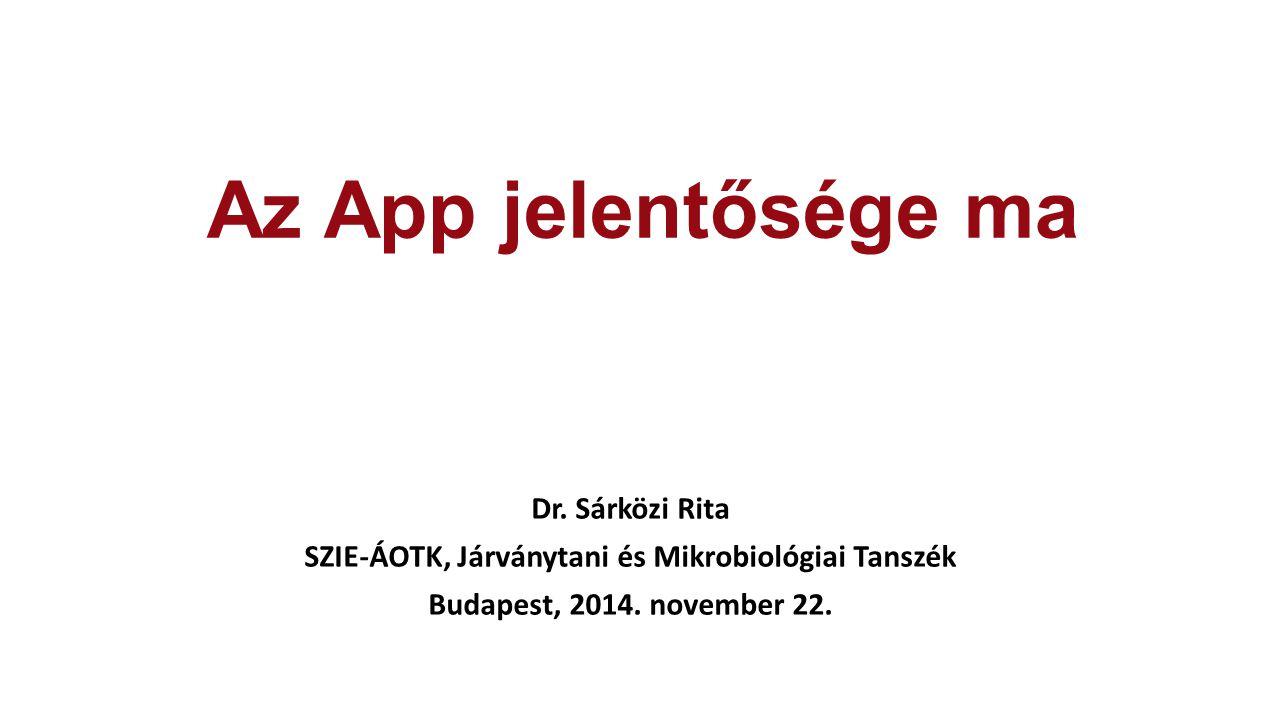 Az App jelentősége ma Dr.