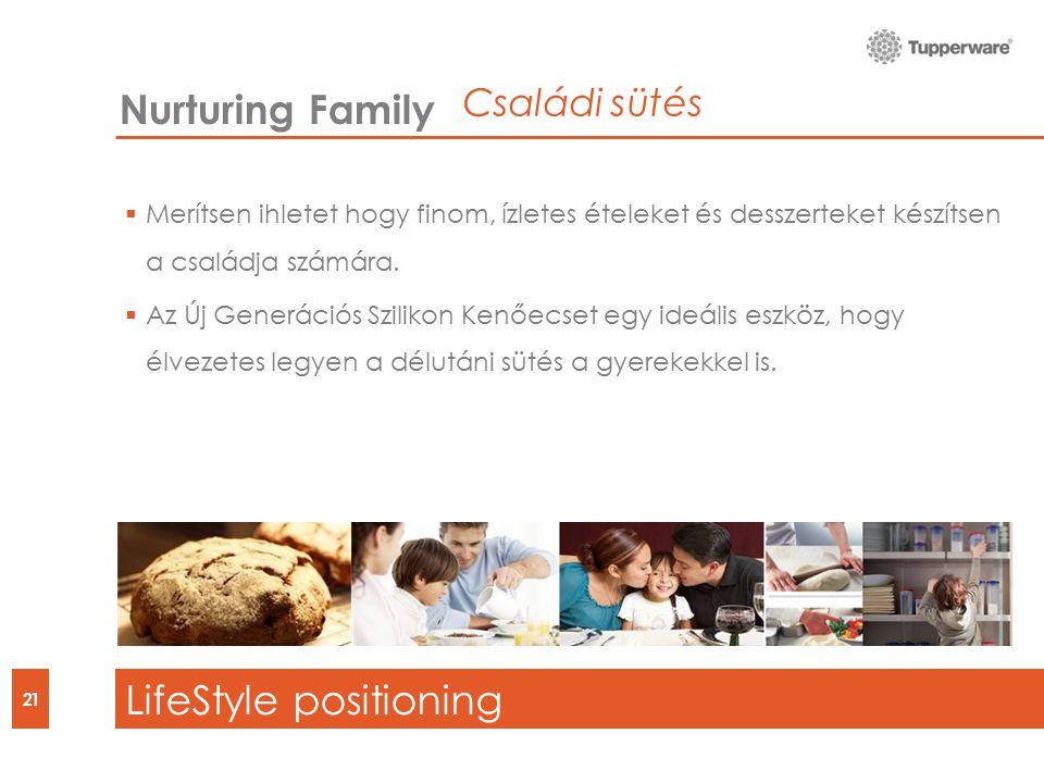 21 Nurturing Family LifeStyle positioning  Merítsen ihletet hogy finom, ízletes ételeket és desszerteket készítsen a családja számára.