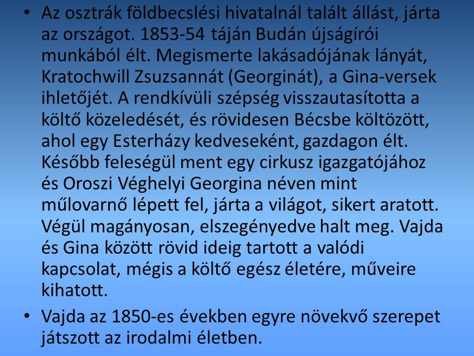 1855-ben munkatársa, kíméletlen kritikusa a Magyar Sajtónak, majd 1857.