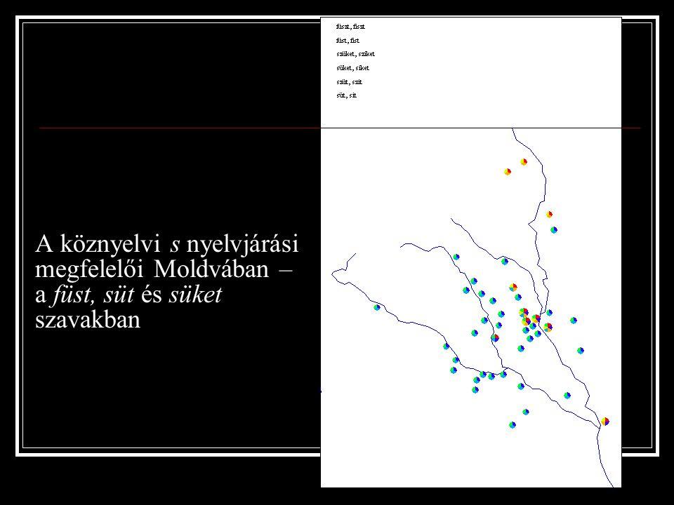 A köznyelvi s nyelvjárási megfelelői Moldvában – a füst, süt és süket szavakban
